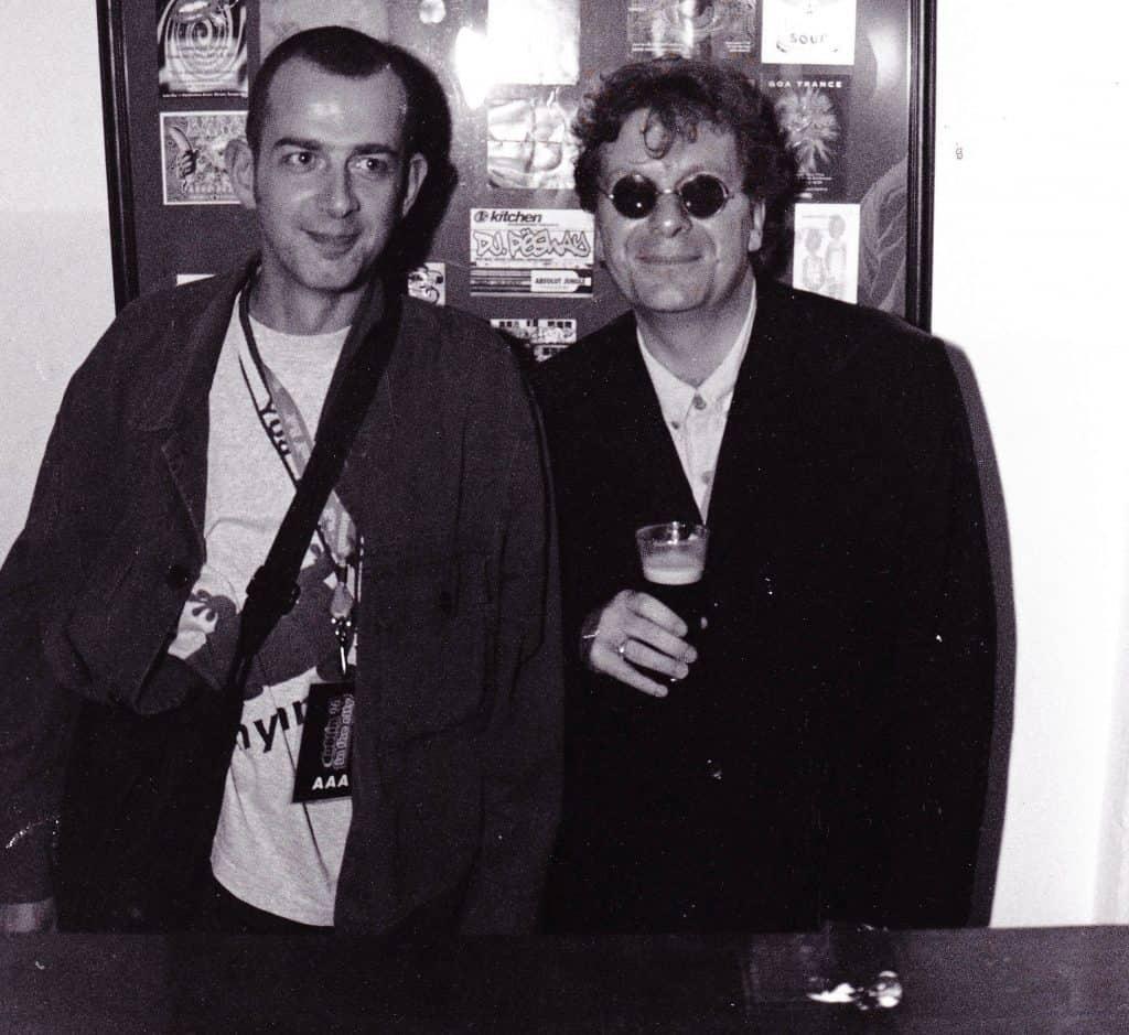 Dave Haslam with Tony Wilson