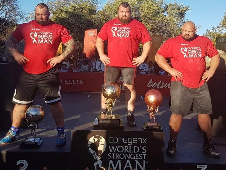 Strongman Eddie Hall winning WSM