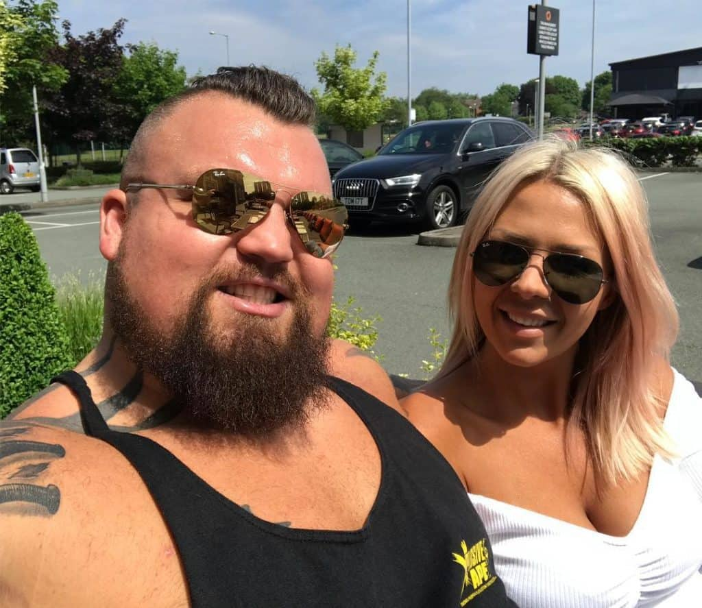 Strongman Eddie Hall with his wife