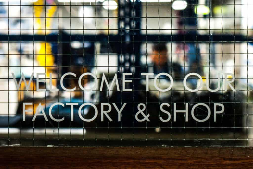 Blackhorse Lane factory welcome sign