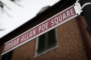 Edgar Allan Poe street sign