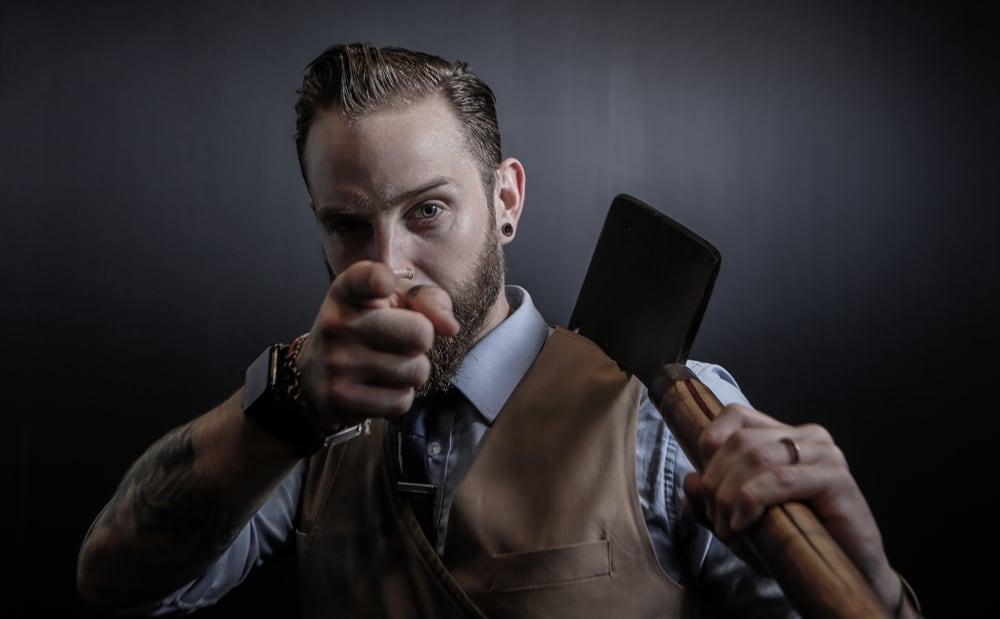 BBQ master Jonny Farrell
