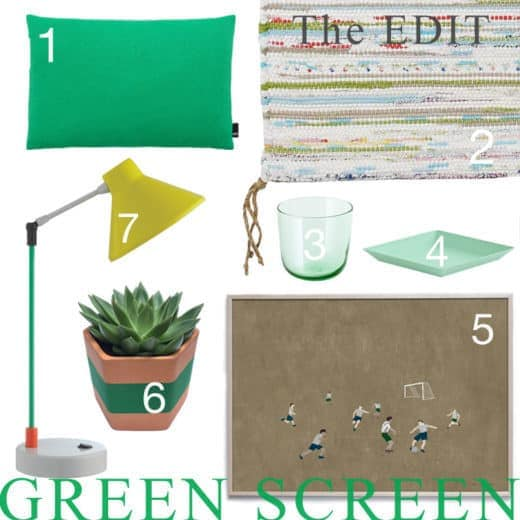Green interior style selected items