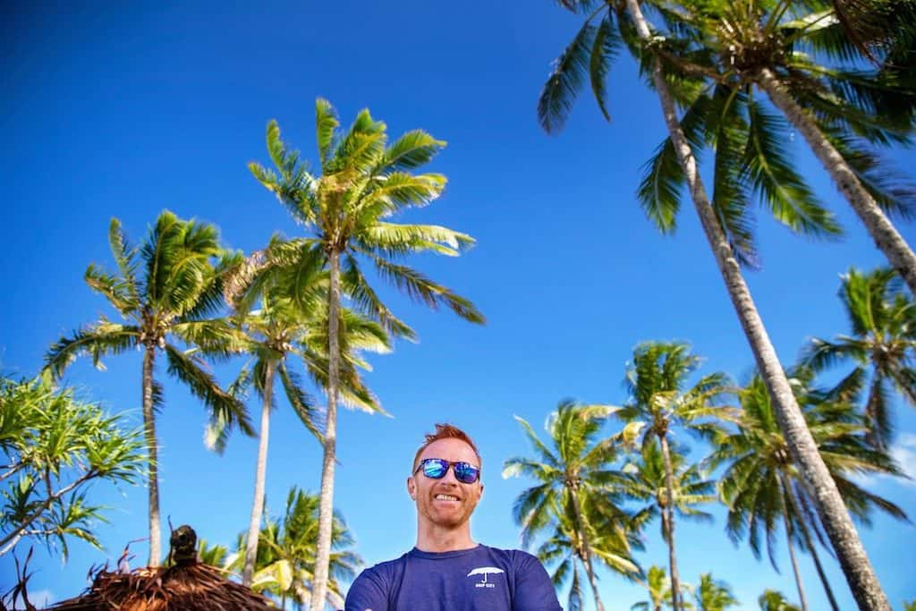 Ex Fiji 7s coach Ben Ryan under palm trees