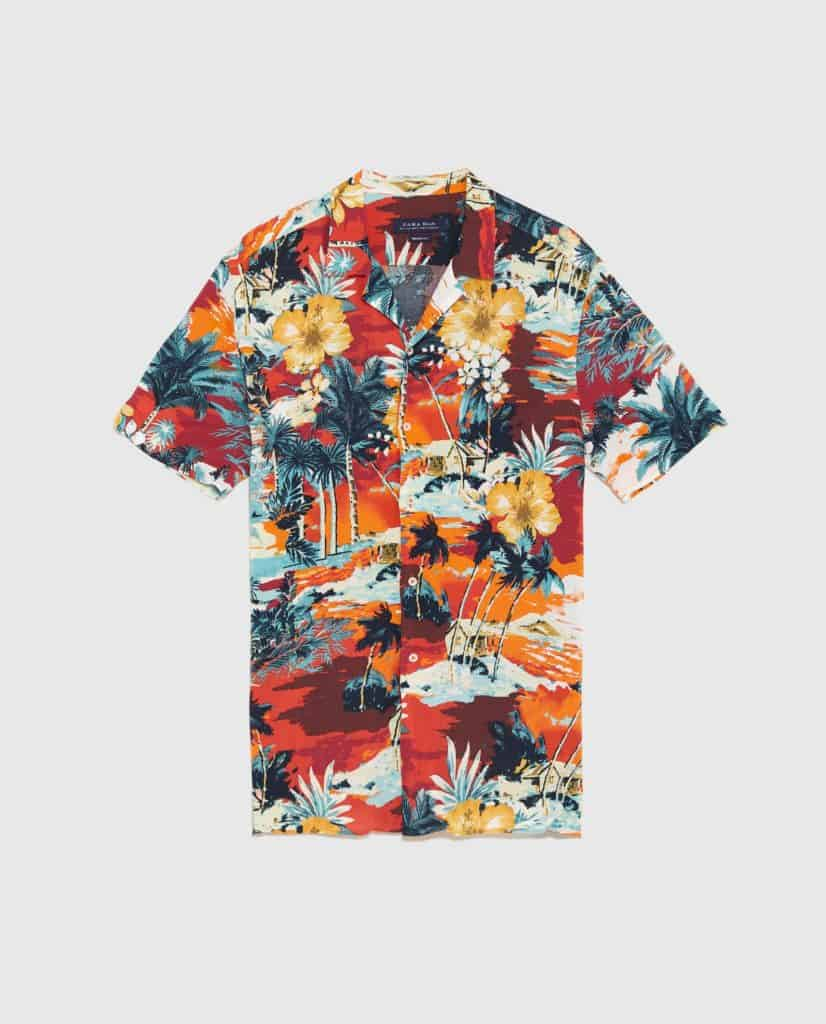 Summer style essential beach print shirt