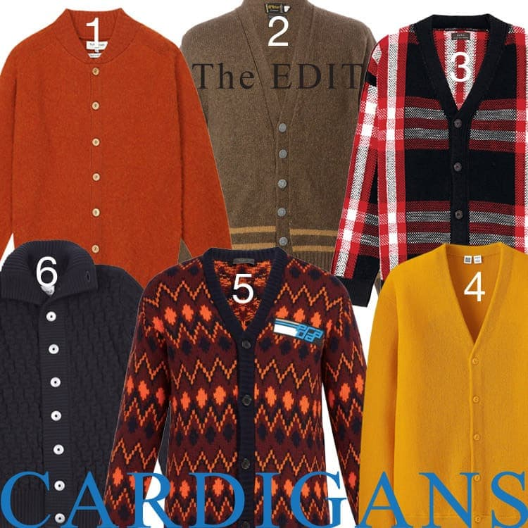 A selection of Autumnal coloured cardigans