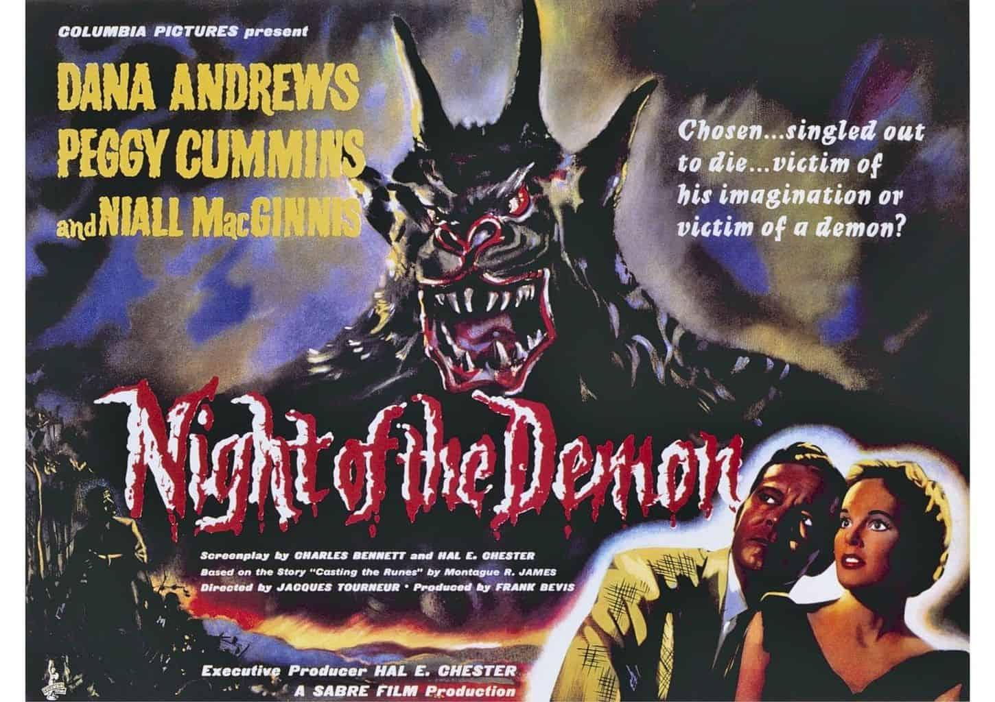 Poster for Jacques Tourneur's 1957 horror 'Night of the Demon'