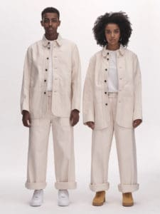 White ULLAC denim oversized jeans