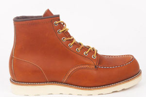 Rust coloured worker boots