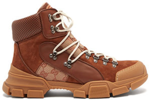 GUCCI Flashtrek leather high-top trainers