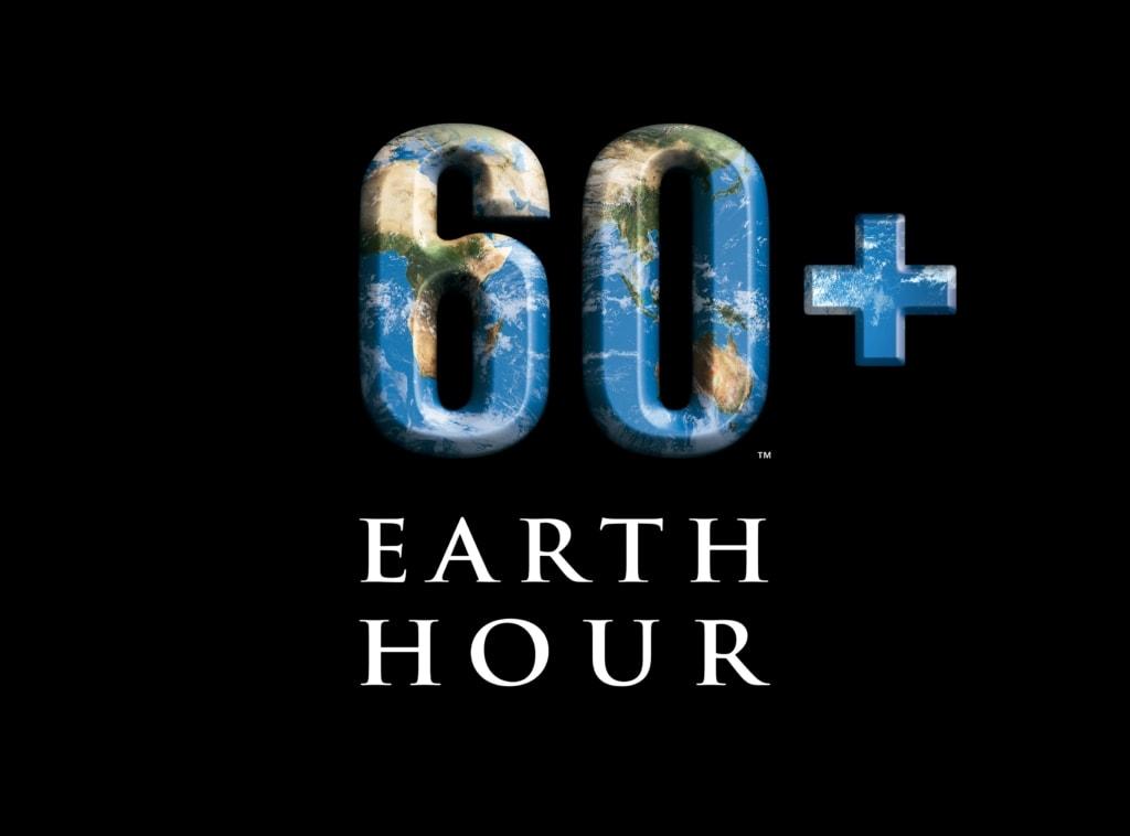 The 60+ Earth Hour logo