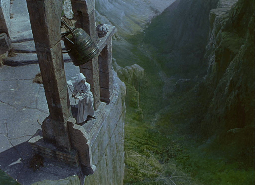 Nun ringing a bell from Black Narcissus (1947)