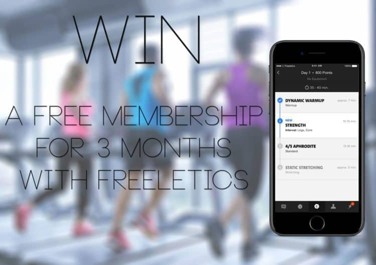 Competition to win 3 months membership to the Freeletics fitness app
