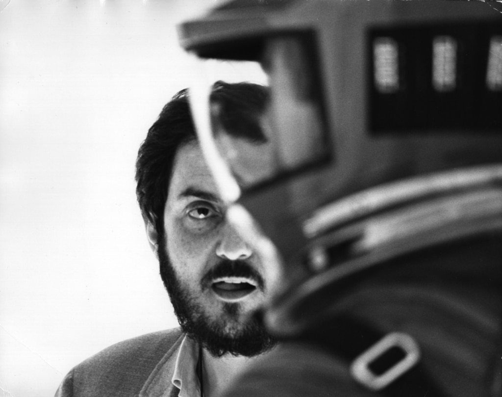 Stanley Kubrick on set during the filming of 2001