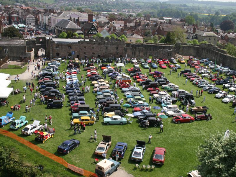 An arial shot of Ludlow Spring festival