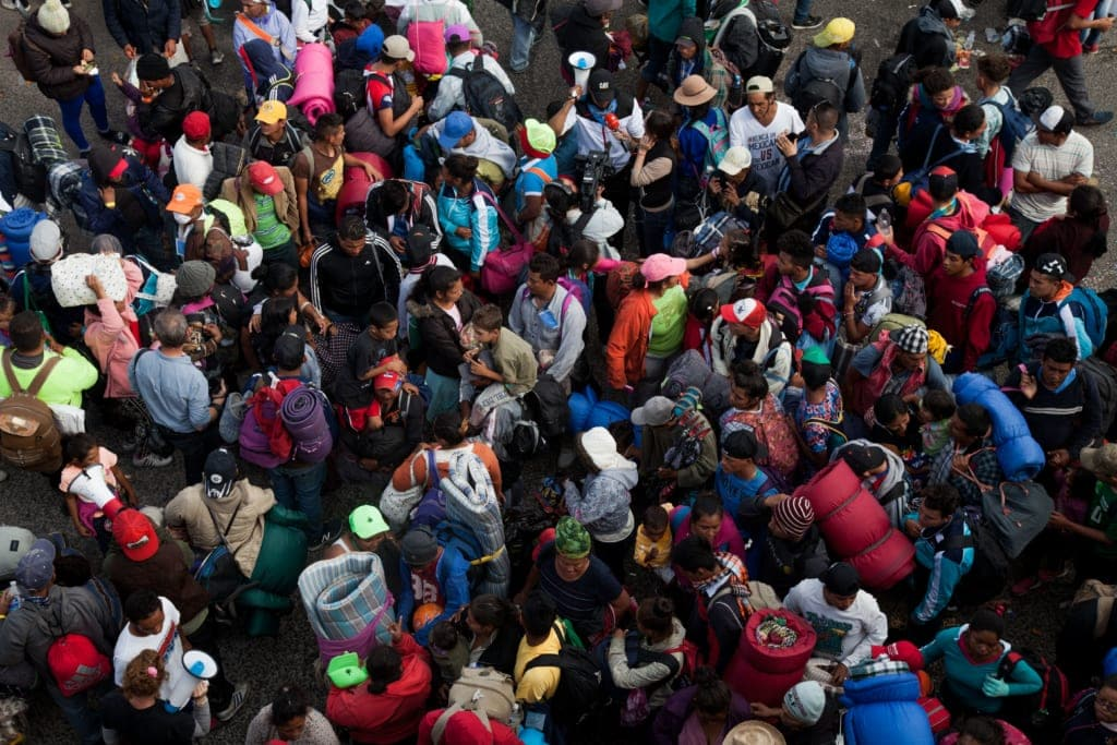The Migrant Caravan - picture by Sean Hawkey