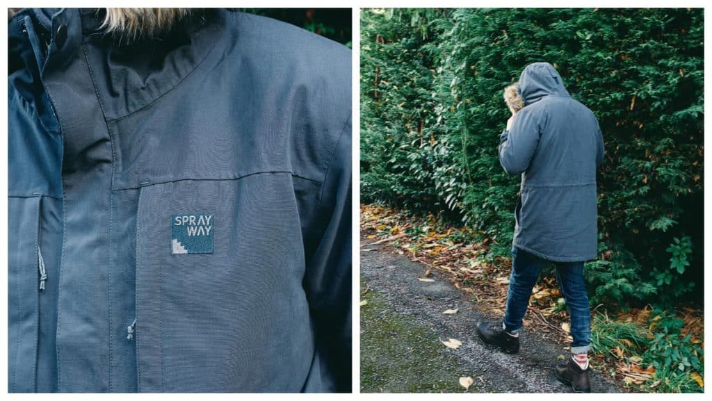 Close up and full length shot of Belmont Parka by Sprayway
