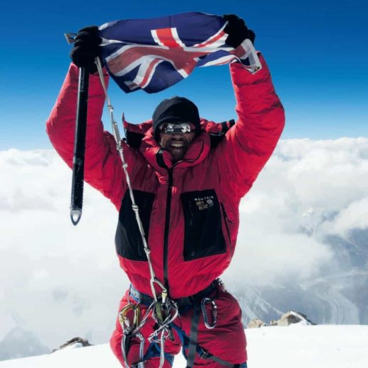 Adrian Hayes on the summit of K2 at 3:20 p.m. on 26 July 2014.