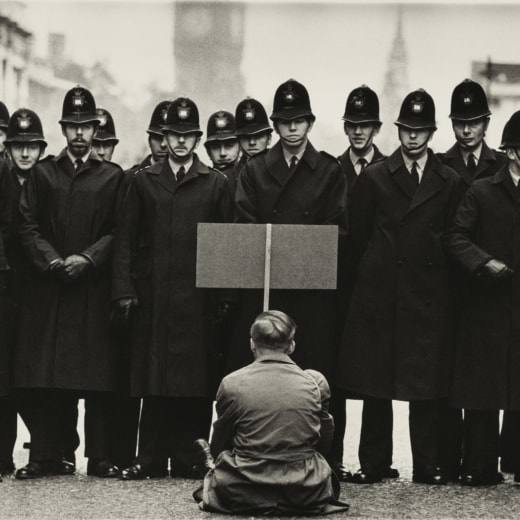 Protester, Cuban Missile Crisis, Whitehall, London 1962. Shot by Don McCullin