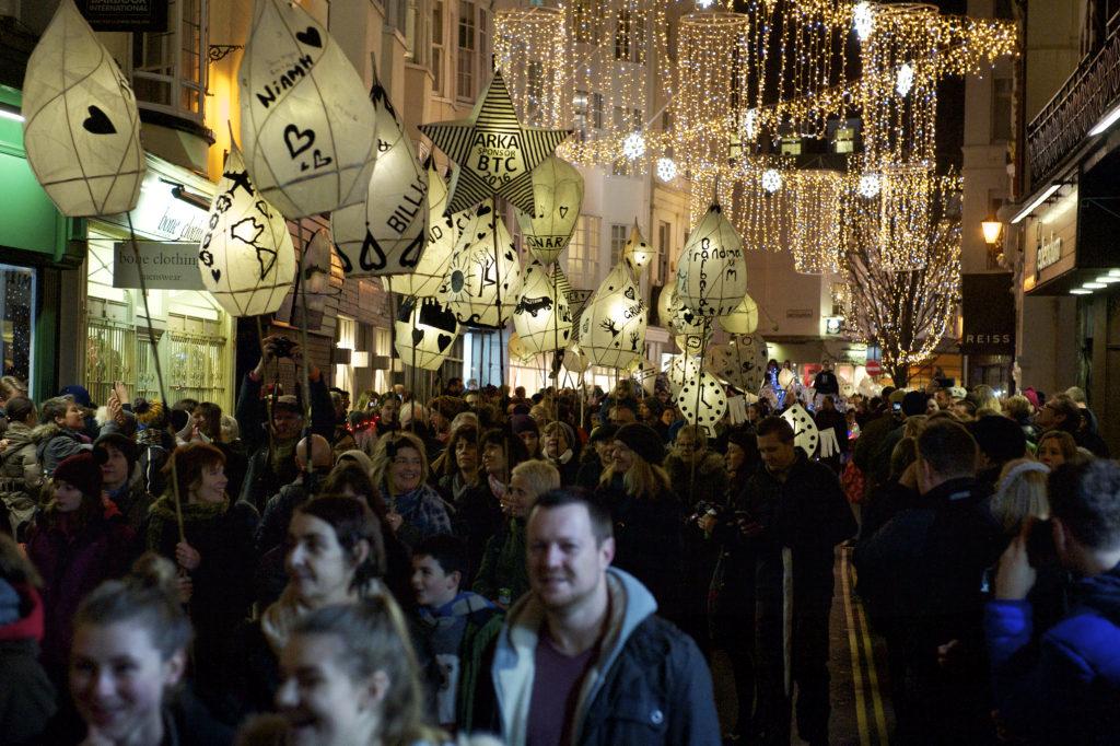 Burning the Clocks lantern parade in Brighton