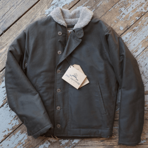 Pike Brothers N-1 Deck jacket Waxed Olive