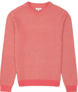 Pink crew neck jumper from Reiss