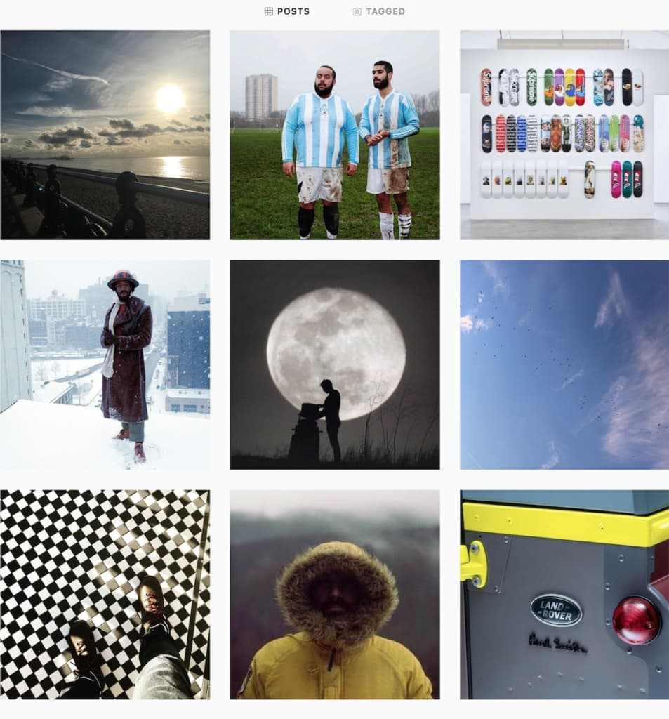 A collage of images from The MALESTROM Instagram feed