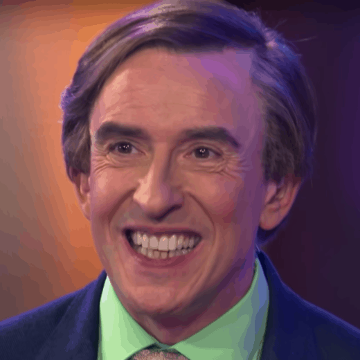 Alan Partridge pulls a face