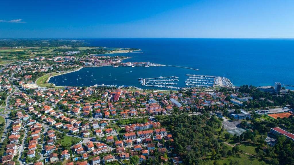 The mediterranean coastline in Croatia