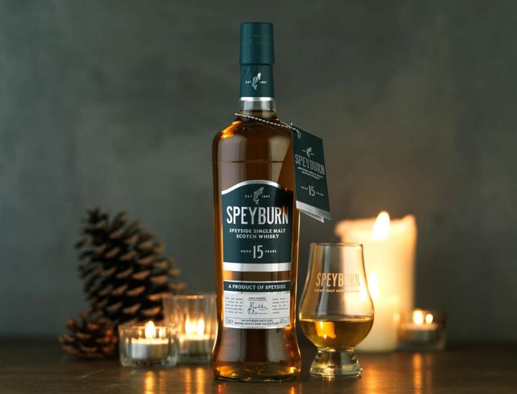 Bottle of Speyburn whisky