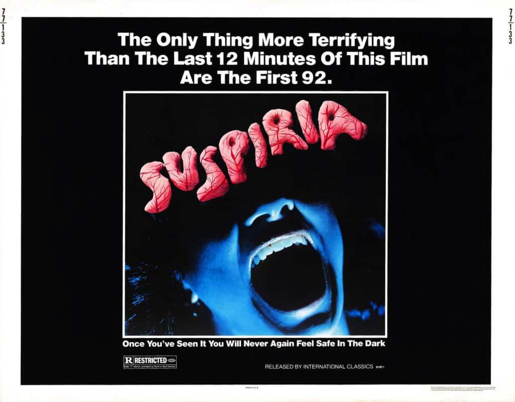 Suspiria Italian Poster 1977