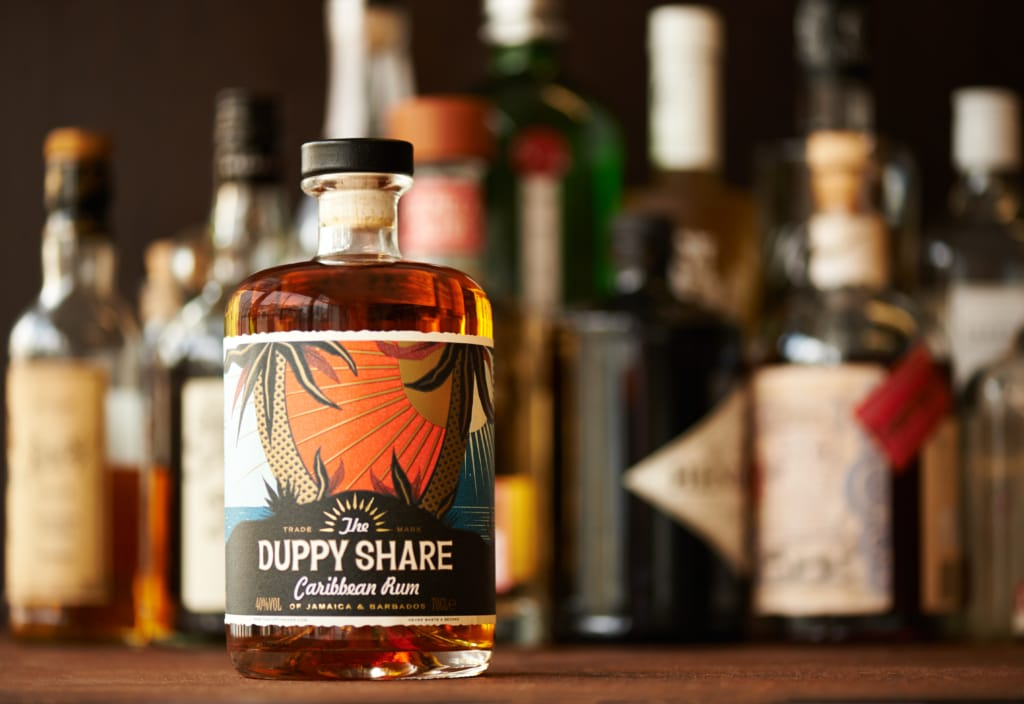 Bottle of The Duppy Share Rum