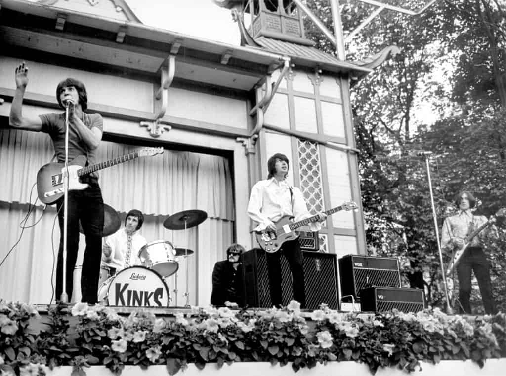 The Kinks performing in Malmoe Folkets Park, Sweden, 14th June, 1968