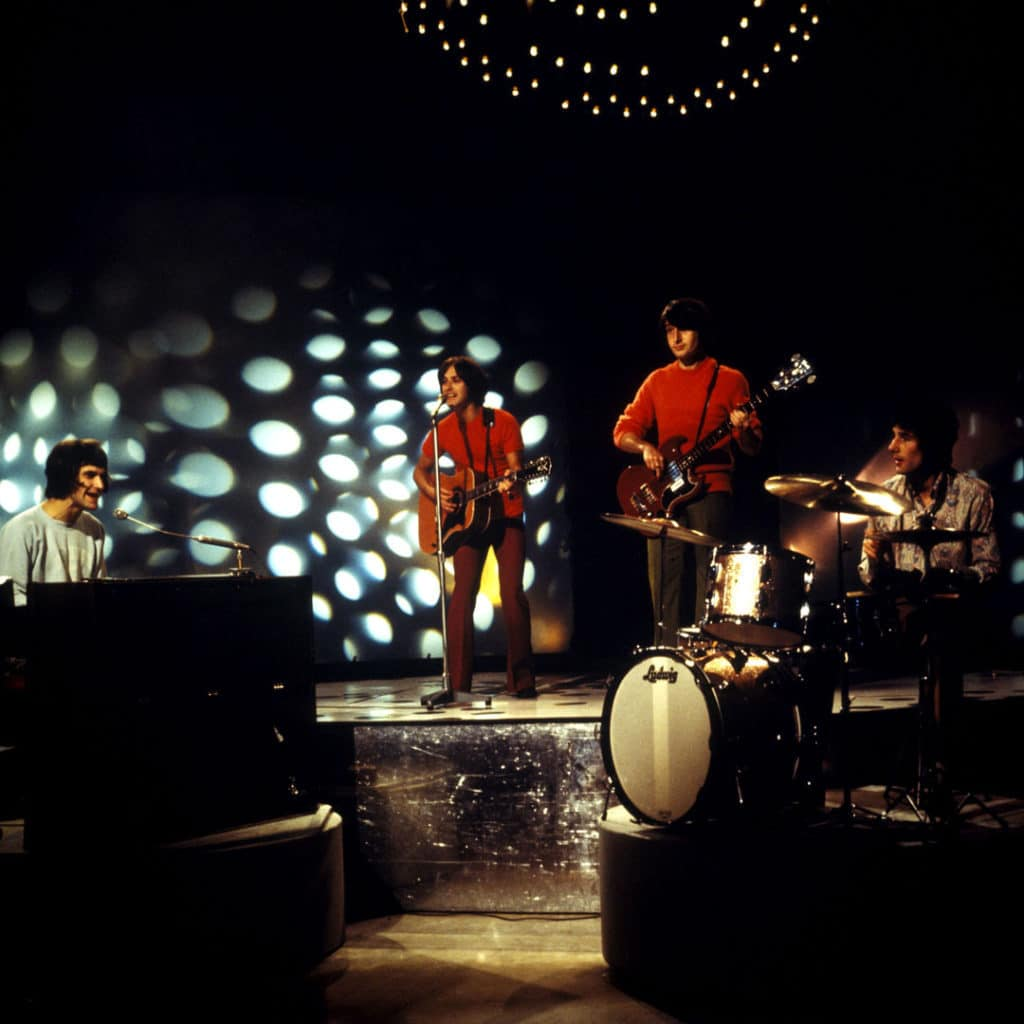 The Kinks performing 'Days' on BBC TV Top Of The Pops, August, 196