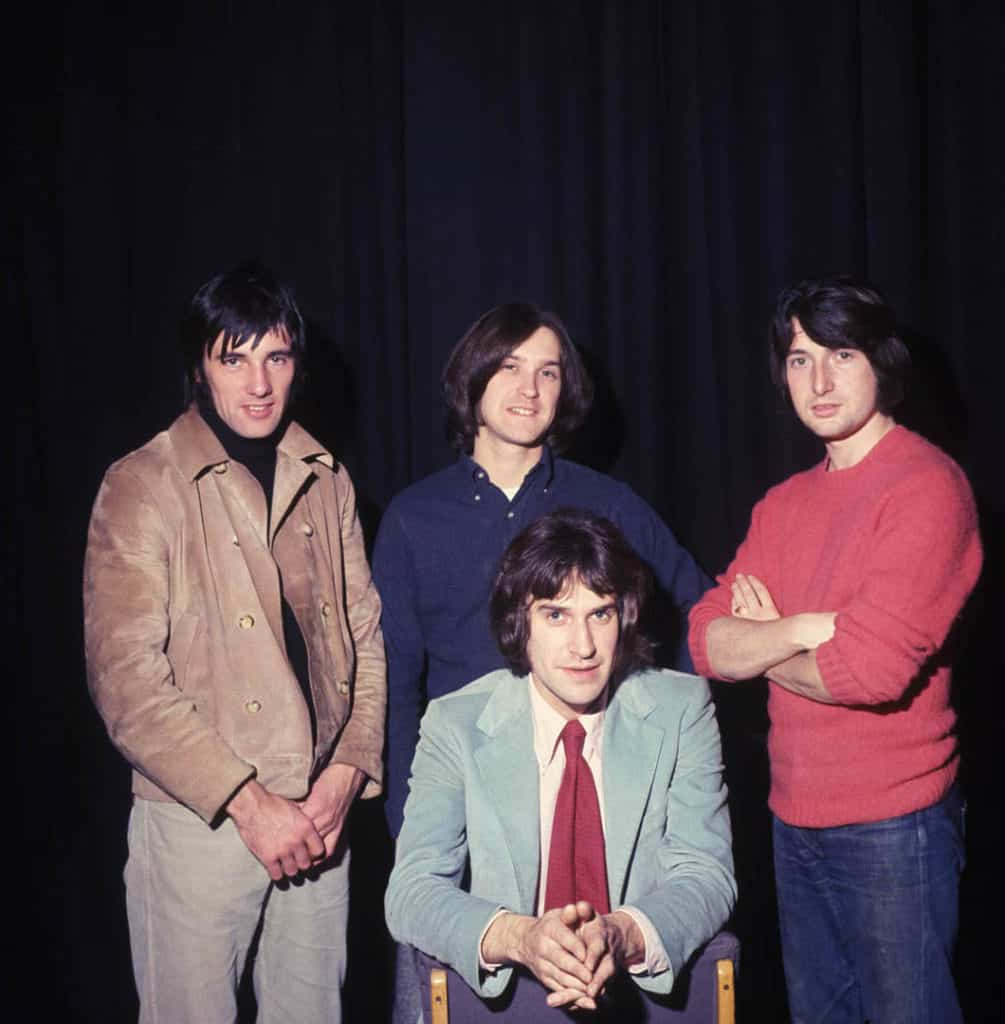The Kinks recording at the Playhouse Theatre, London, for the BBC World Service, 26th November ,1968