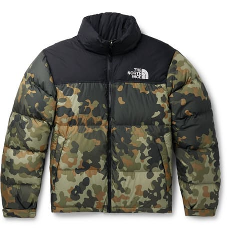 The North Face 1996 Nuptse Camoflage Print Quilted Ripstop Down Jacket