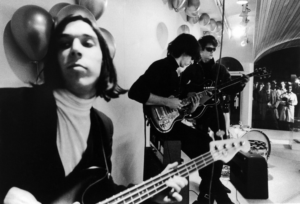 Velvet Underground at Paraphernalia opening, from In and Out of Warhol's Orbit: Photographs by Nat Finkelstein