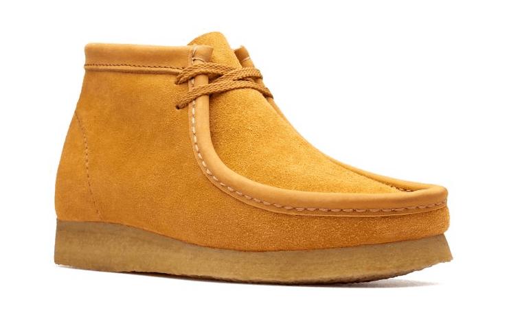 Clarks Originals Wallabee boot in orange suede