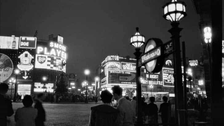 The West End at Night © Estate of Bob Collins