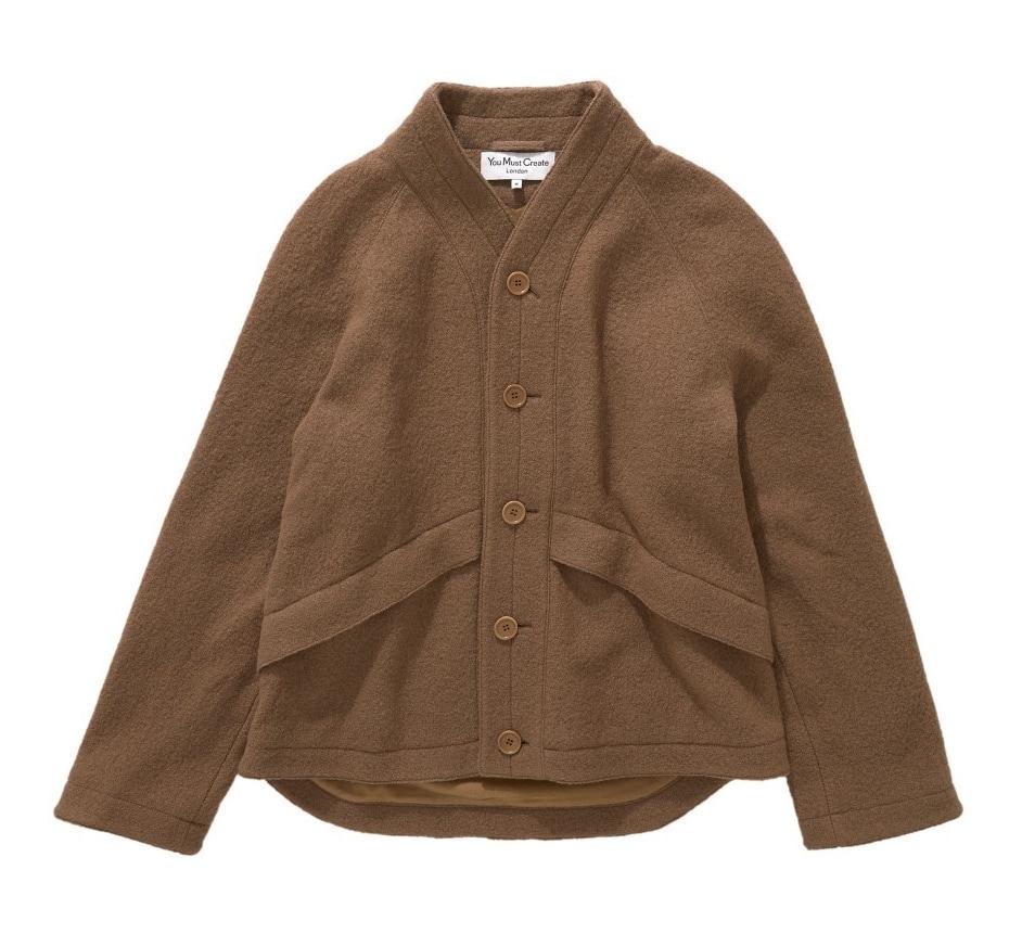 100% wool Erkin Jacket with raglan sleeves