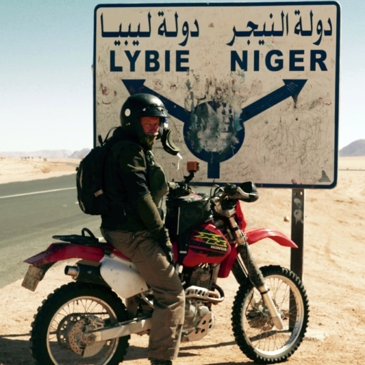 Chris Scott travelling through the Sahara