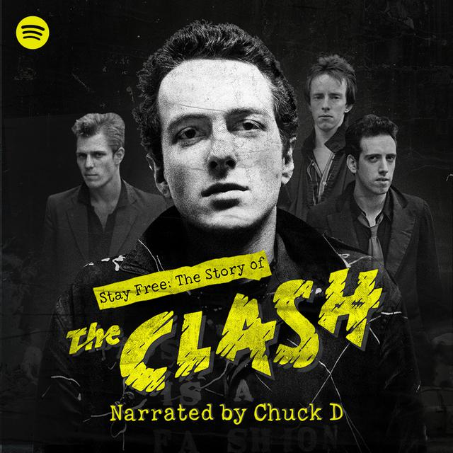 A poster featuring members of The Clash