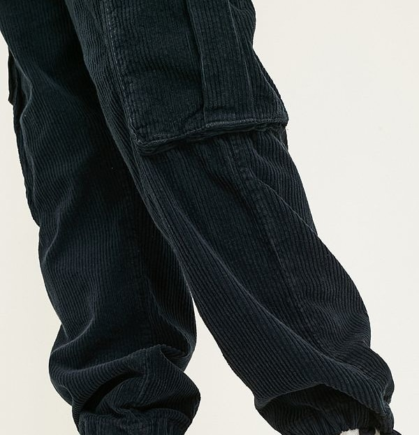 Blue corduroy cargo pants