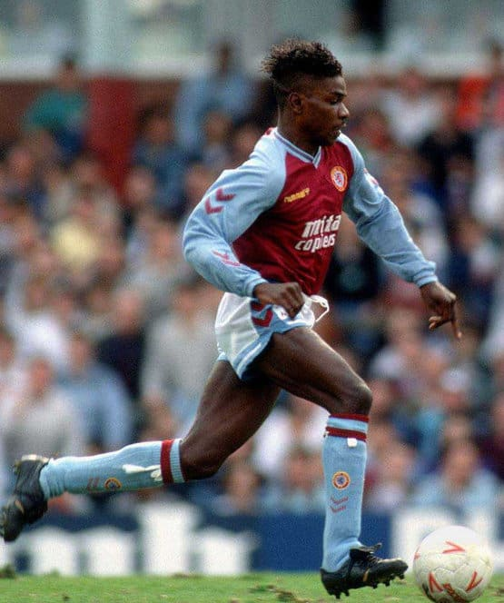 Tony Daley in his playing days with Villa