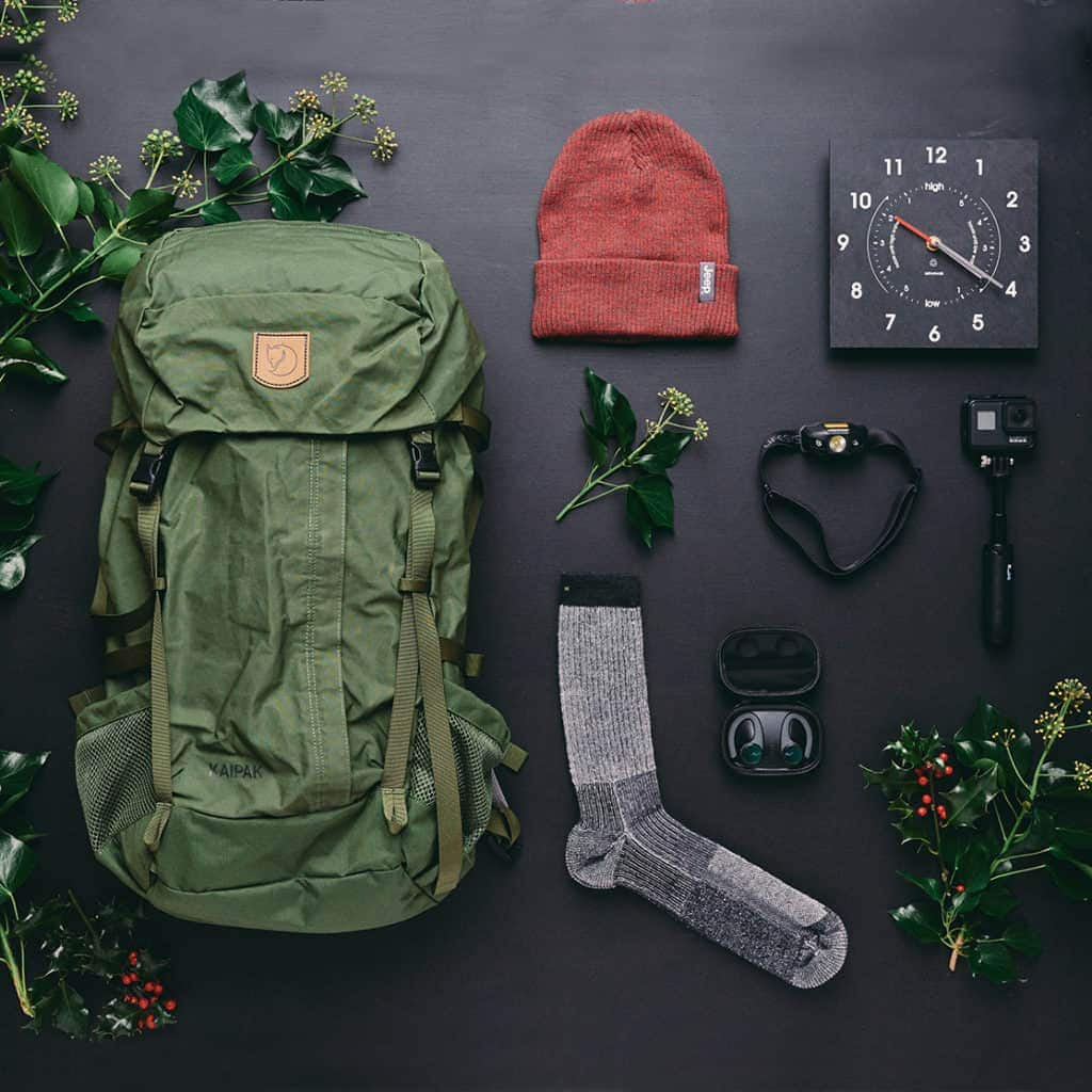 Outdoor items photographed for The MALESTROM's Christmas gift guide