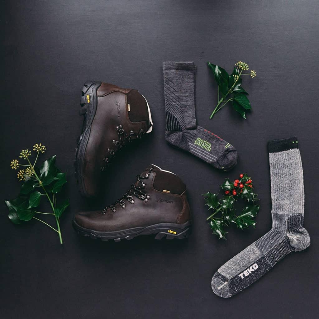 AnatomQ2 Classic Hiking Boots and Teko hiking socks