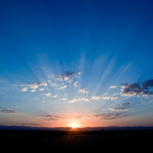 blue monday sunset