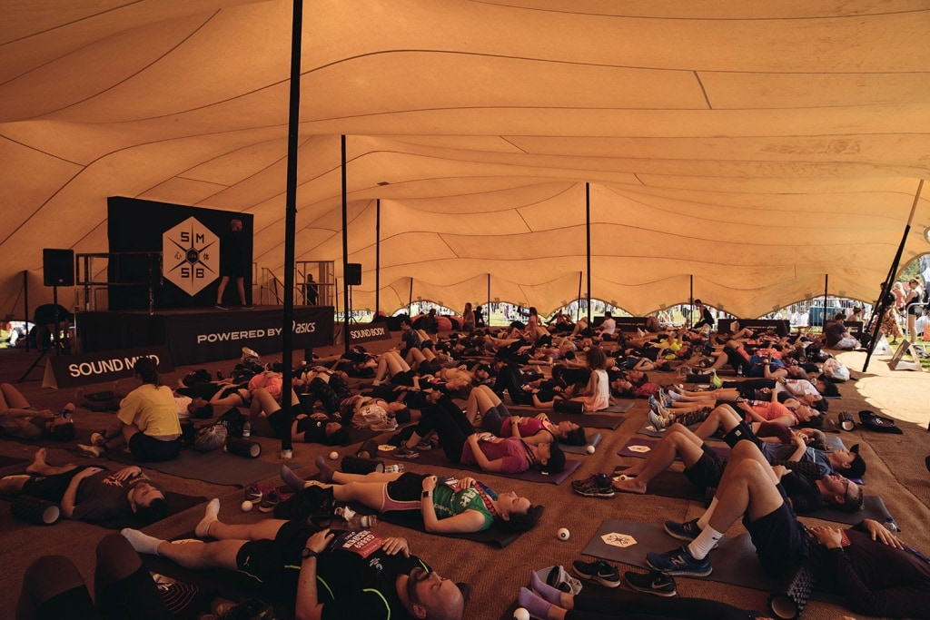 yoga at the festival of fitness 2018